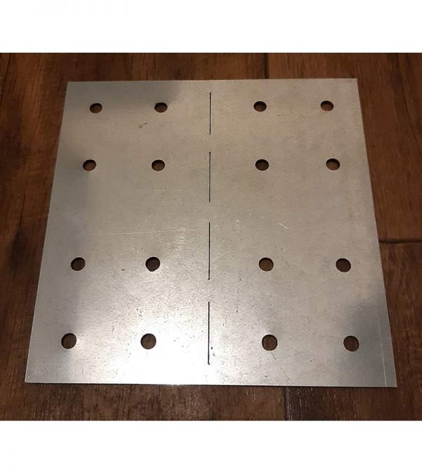 180x180x2mm Fixing plate - Screws and Fixings