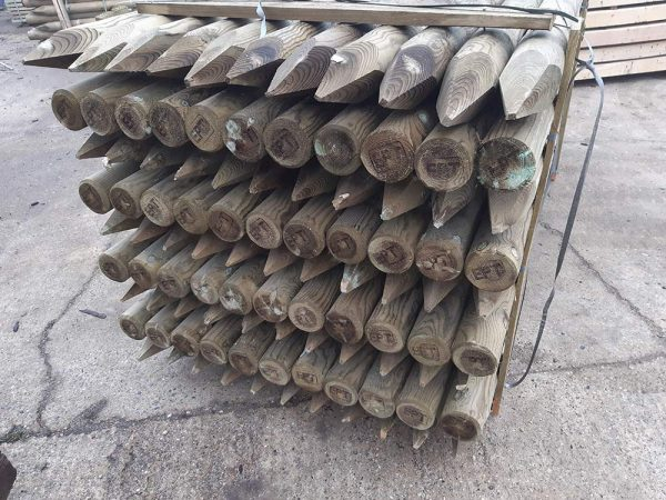 Machined Round Fence Stakes - Post and Rail Fencing